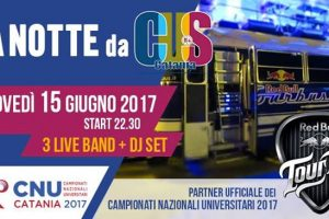 Giovedì 15 Giugno Una Notte da CUS Live Band & DJ set